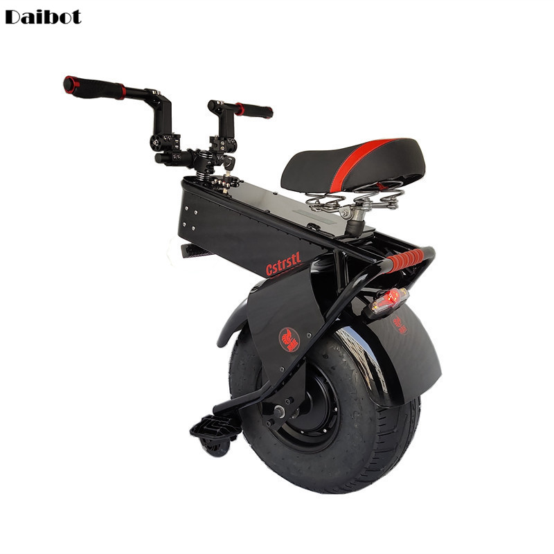 Electric Unicycle With Seat 1000W 60V One Wheel Self-balancing Electric Scooter Motorcycle For Adults 18 Inch Big Wheel 1