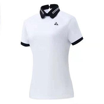 Swirlig 2020 ubrania do gry w golfa nowe panie lato T-shirt do golfa wygodne oddychające odporne na promieniowanie UV T-shirt do golfa darmowa wysyłka tanie i dobre opinie WOMEN COTTON Modalne Krótki Anty-pilling Przeciwzmarszczkowy Koszule Pasuje prawda na wymiar weź swój normalny rozmiar