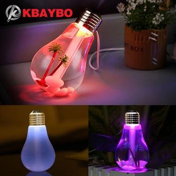KBAYBO Ã�ニ電球ディフューザー Usb ǩ�気加湿器ディフューザー Led Ã�イトライトクリエイティブボトルのアロマボトルホームオフィス