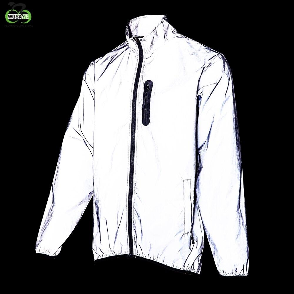 WOSAWE Chaqueta reflectante para deportes de ciclismo, chaqueta para correr de noche, resistente al viento, impermeable, cálida y transpirable, para otoño|Chaquetas de ciclismo| - AliExpress
