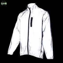 Wosawe Fietsen Sport Herfst Volledige Reflecterende Jas Night Running Winddicht Regendicht Warm Ademend Windjack Bike Jacket