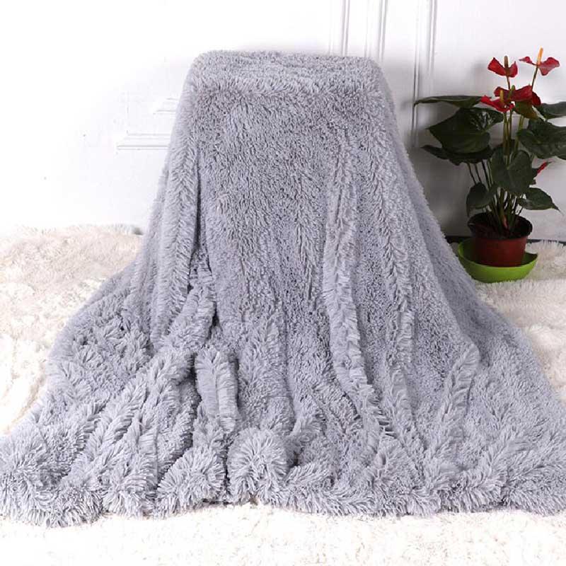 Shaggy sofá de pele fuzzy, cobertor para o inverno, quente, para escritório, fofo, xadrez, capa de cama, lençol para estudantes, casa