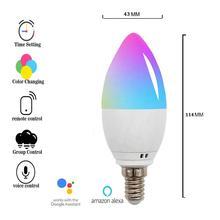 Boaz Wifi Smart Candle Bulb E12 E14 E26 E27  APP Remote Control Alexa Echo Google Home Tuya Dimmable Led night