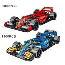 Voiture jouets F1 course voiture modèle bâtiment créateur ville Technol Expert Super vitesse Champions formule voiture véhicule briques cadeau d'anniversaire