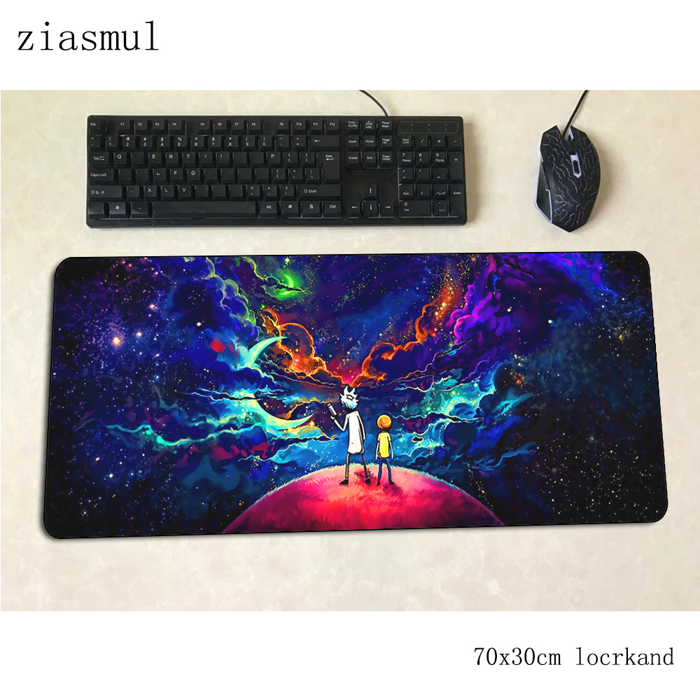 Rick And Morty Mouse Pad 70x30cm Gaming Mousepad Anime Office Notbook Desk Mat New Arrival Padmouse Games Pc Gamer Mats