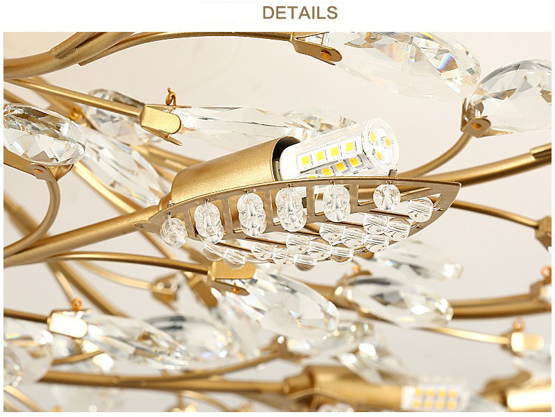 H4ddd78905ab043ad96d89597213dd5d3r Modern ceiling light for living room led Crystal ceiling lamp bedroom crystal lamps dining gold loft lighting Crystal Fixtures
