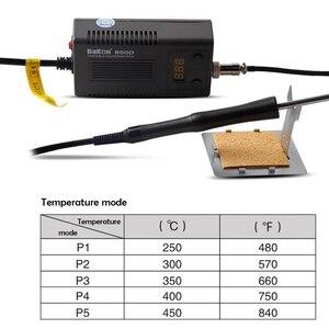 Image 3 - BAKON Mini soldador portátil 950D 110V/220V 75W Estación de soldadura BGA Digital con punta de T13 I para FX 951/936 + Cable de soldadura