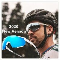 새 버전 풀 컬러 레드 포토 크로 믹 선글라스 사이클링 안경 남성 자전거 안경 스포츠 자전거 고글 3 렌즈 포토 크로 믹|사이클링 안경류|   -
