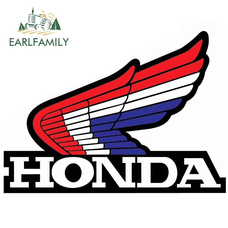 EARLFAMILY 13cm X 9.5cm Funny Car Stickers For Honda Wings Vinyl Waterproof Decals Bumper JDM Laptop Car Wrap Personality Decal