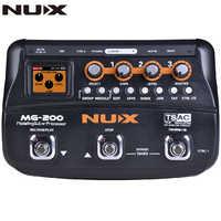 NUX MG200 MG-200 procesor gitarowy Multi pedał efektów gitarowych 55 efektów 70s nagrywanie gitara Looper bęben maszyna pedał Adapter