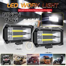 2Pcs LED Car Work Light 12V 24V 72W Work Fog Lamp For Offroad 4x4 Suv ATV Truck Fire
