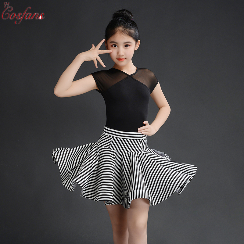 Girls Latin Dance Dress Kids Dresses For Girls Cha Cha Flamengo Tango Salsa Dress Competitive Latin Dance Skirt Top Suits 2pc