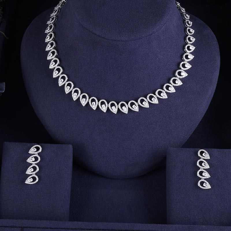 jankelly Hotsale Nigeria2pcs Bridal Jewelry Sets New Fashion Dubai Full Jewelry Set For Women Wedding Party Accessories Design