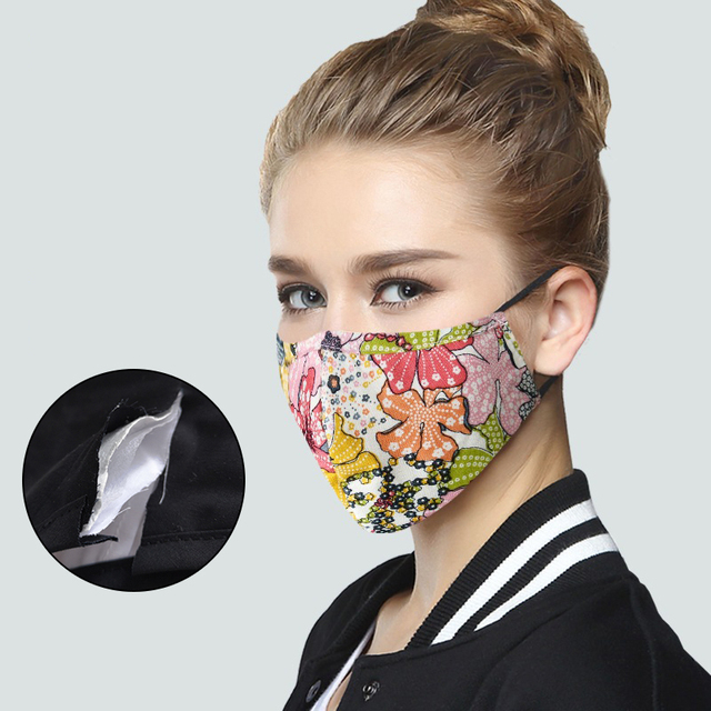 Dustproof  Masks Cotton Fabric Face Mask With Carbon Filter Mouth-muffle Mask Washable Reusable Korean Pop 1