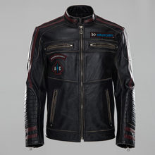 American street fashion hand-made old Harley motorcycle clothing jacket leather jacket leather Leather man(China)