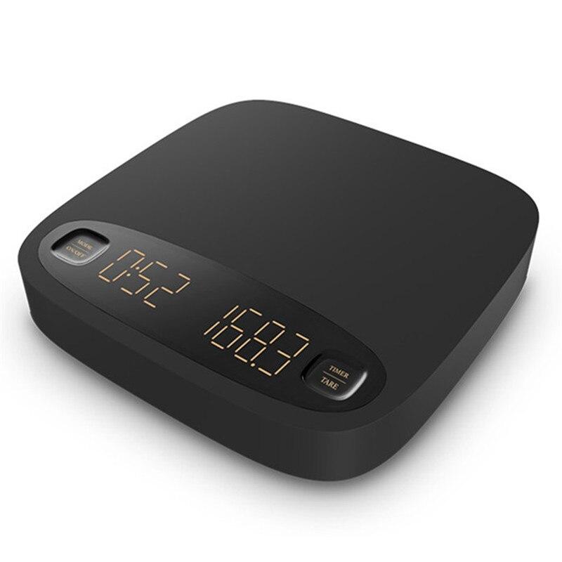 مقياس القهوة مقياس رقمي ذكي صب القهوة الإلكترونية بالتنقيط مقياس القهوة مع الموقت 2 كجم/0.1 جرام