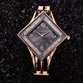 Frauen Uhren Luxus Armband Diamant Form Strass Top Marke Kleid Quarz Armbanduhr Uhr Geschenk für Frauen zegarek damski