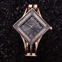 Zegarki damskie luksusowa bransoletka diamentowy kształt koszulka stras sukienka markowa zegarek kwarcowy zegar prezent dla kobiet zegarek damski