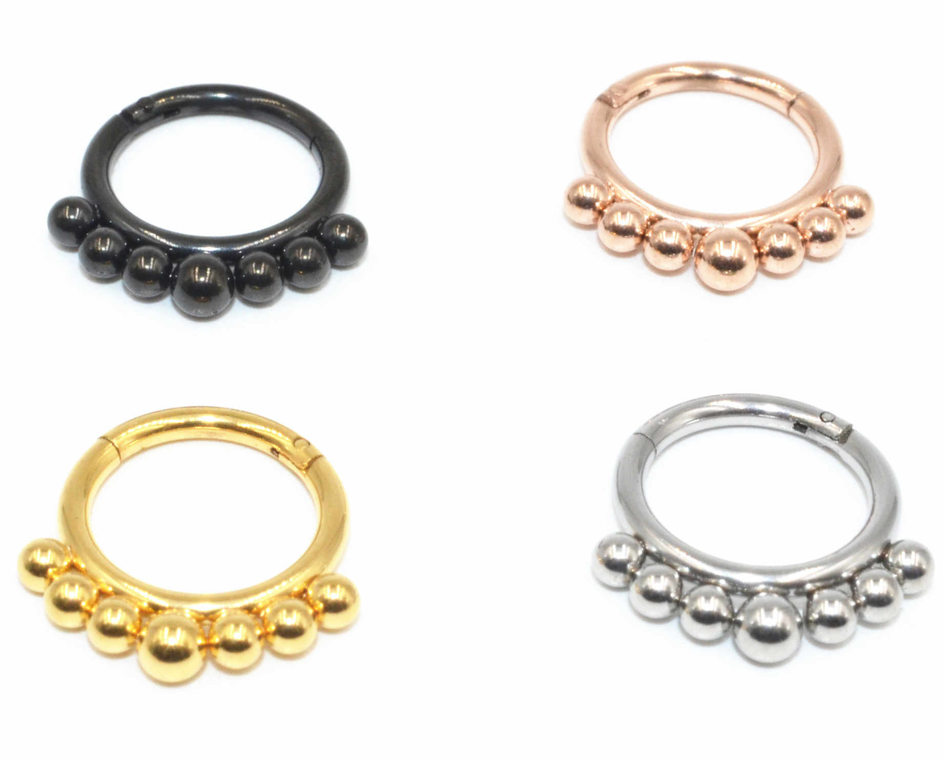 Europe And America Accessories Not Allergy Nose Stud Closed Ring