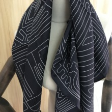 2020 new arrival spring autumn classic stripe 100% silk scarf twill hand made ro