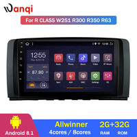Android 8.1 2+32G 8 Cores Octa Car GPS For Mercedes Benz R Class W251 R300 R350 R63 support RDS steering wheel bottons control