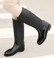 Autumn Shoes Woman Waterproof PVC Rainboots Outdoor Rainy Shoes Spring Knee High Boots Water Shoes Casual Rain Boots botas mujer