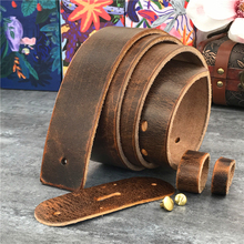 4.3CM Thick Retro Leather Belts Without Buckles Men