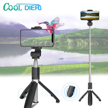COOL DIER L01 upgrade version 3 in 1 Wireless Bluetooth Selfie Stick L01S Extendable Handheld Monopod Mini Tripod For iphone XR