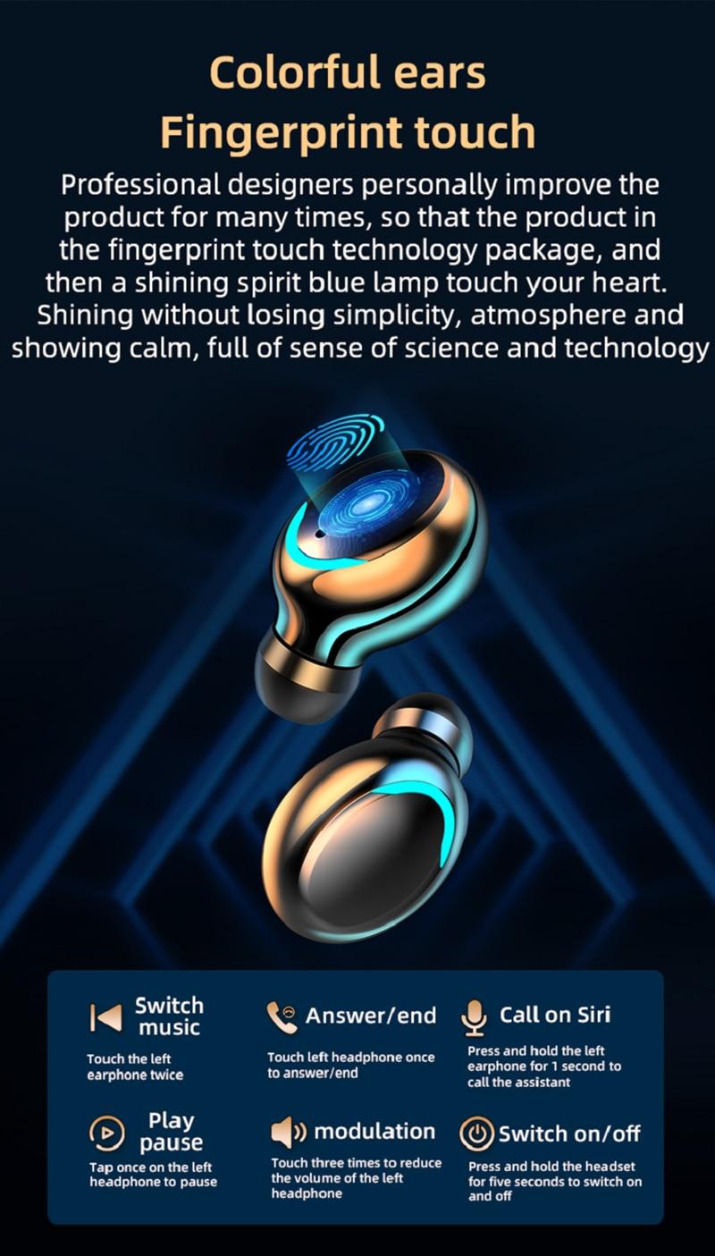 Brightside tws bluetooth 5.0 fones de ouvido