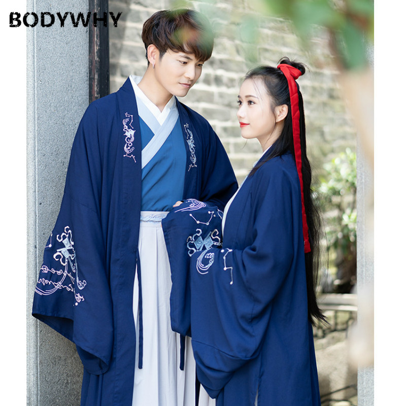 Couple Clothing Traditional Wedding Dress Hanfu Men Chinese Folk Dance Costume For Woman Cosplay Ancient Costumes Blouse Tops