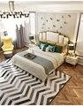 Элегантная однотонная деревянная резная кровать  дизайн мебели  деревянная кровать королевского размера