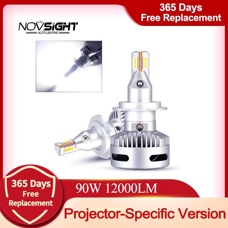 NOVSIGHT автомобильный проектор головной светильник H7 Led H7 H11 9005/9006 9012 D5 D2/D4 D1/D3/D8 90W 12000LM 6500K авто фары противотуманные лампы светильник