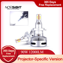 NOVSIGHT Auto Projektor Scheinwerfer H7 Led H7 H11 9005/9006 9012 D5 D2/D4 D1/D3/D8 90W 12000LM 6500K Auto Scheinwerfer Nebel Glühbirnen