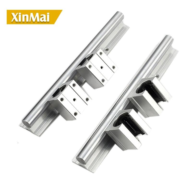 2pcs linear rail SBR12 2000mm + 4 pcs SBR12UU linear bearing blocks for cnc parts 16mm linear guide
