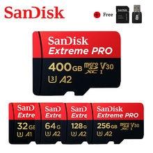 Cartão instantâneo do cartão de memória 128gb 256gb 400gb cartão de memória cartão flash microsd sd/tf para a câmera sandisk extreme pro cartão micro sd u3 v30 4k 32gb 64gb