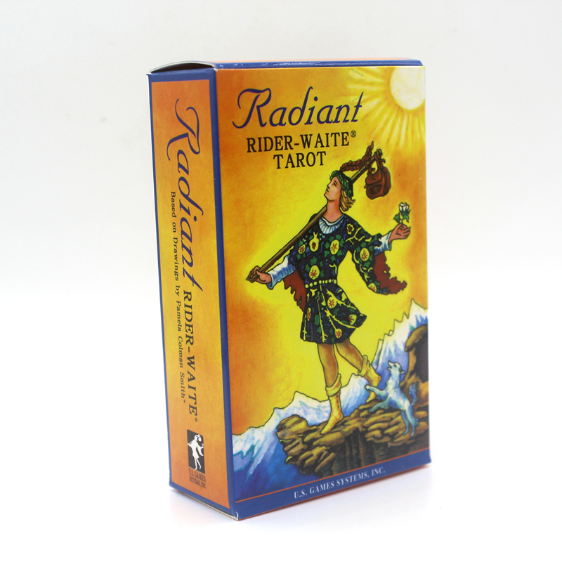 Full English Radiant Rider-Waite Tarot Cards Game With English Booklet Instructions Rider Waite Tarot Board Game