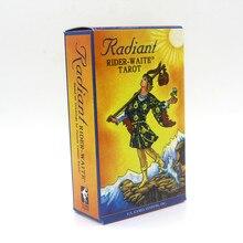 Jogo de cartas de tarô radiante, conjunto completo de inglês com instruções para piloto waite tarot