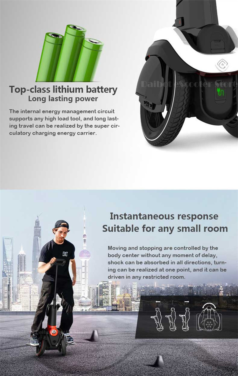 I-ROBOT-GO Electric Scooter Adults Two Wheel Self Balancing Scooters 48V 1200W Powerful Electric Scooter With SeatAPP  (1)