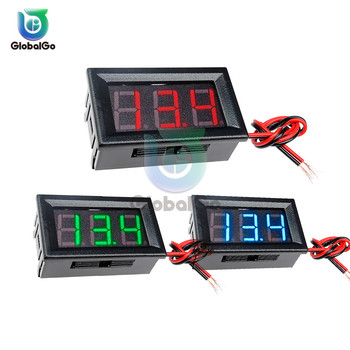 2 Wire 0.56 Digital Voltmeter Digital Voltmeter Voltage Panel Meter Red/Blue/Green For Electromobile Motorcycle Car image