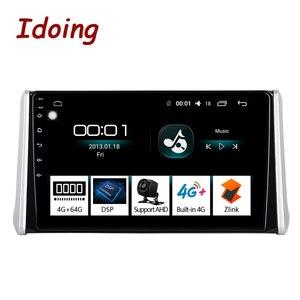 "Image 1 - Idoing 10.2""4G+64G 2.5D Octa Core DSP Car Radio Android Multimedia Player For Toyota RAV 4 2019 GPS Navigation Autoradio AHD 4G"