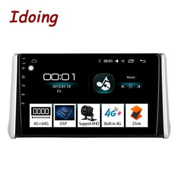 "Idoing 10.2""4G+64G 2.5D Octa Core DSP Car Radio Android Multimedia Player For Toyota RAV 4 2019 GPS Navigation Autoradio AHD 4G"