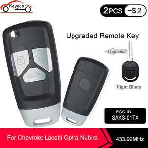 Image 1 - KEYECU 433.92MHz 4D60 Chip FCC ID:SAKS 01TX Upgraded Flip Remote Car Key Fob 3 Button DW04R Blade for Chevrolet Optra Lacetti