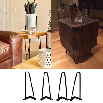 4Pcs/set 4/6/8/12/16/18inch Hairpin Table Legs Iron Legs For Table Home Accessories Simple Modern Furniture Wire Legs
