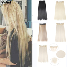 Hair-Extensions False-Hairpieces Clip-In Synthetic Straight Long Women Neitsi for 31-Color-Available