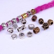 5 Pcs/pack Golden Silver 14 Styles Viking Beadshair Braid Dread Dreadlock Beads Clips Cuffs Rings Jewelry Dreadlock Accessories