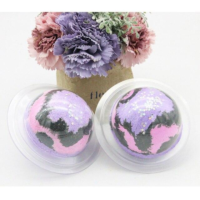 1pcs Spa clean Lavender Bath Salt Ball Body Skin Whitening Ease Relax Stress Oil Bath Ball Natural Bubble Bathing Bombs Balls