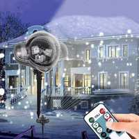IP65 Motion Snowfall Projector Snow Outdoor Garden Laser Projector Lamp Christmas Snowflake Laser Light For RU New Year Party