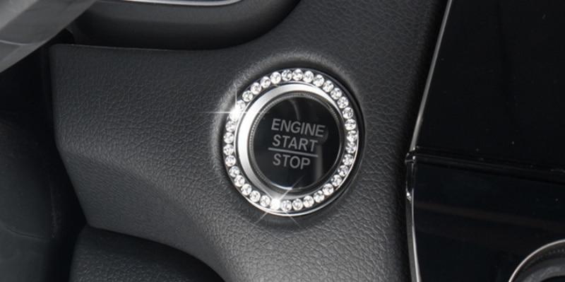 Car Decor Crystal Rhinestone Auto Engine Start Stop Key /& Knobs Decoration Crystal Interior Ring Decal Fit Nissan Rogue Sentra Altima Murano Kicks Maxima 370z Qashqai Accessories