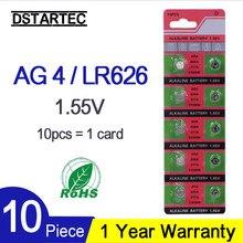 10PCS Button Battery 1.55V AG4 377A 376 LR66 LR626 SR626SW SR66 SR626 AG 4 D377 GA4 177 565 Alkaline Button Cell Coin Batteries