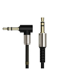Audio-Cable Headphone Jack-Speaker Aux-Cord Spring for JBL Samsung Male-To-Male